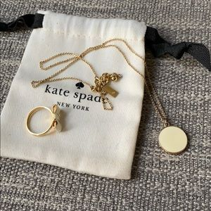 Kate Spade Creme de la Creme Necklace & Ring 8 Set